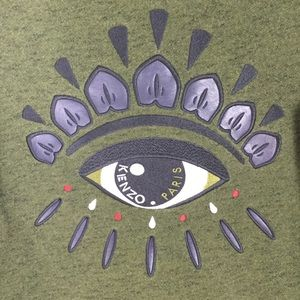 Kenzo Sweaters - Kenzo Paris | Green Eye Graphic Crewneck Sweater